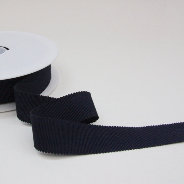 Cotton Grosgrain Ribbon 25mm - Navy
