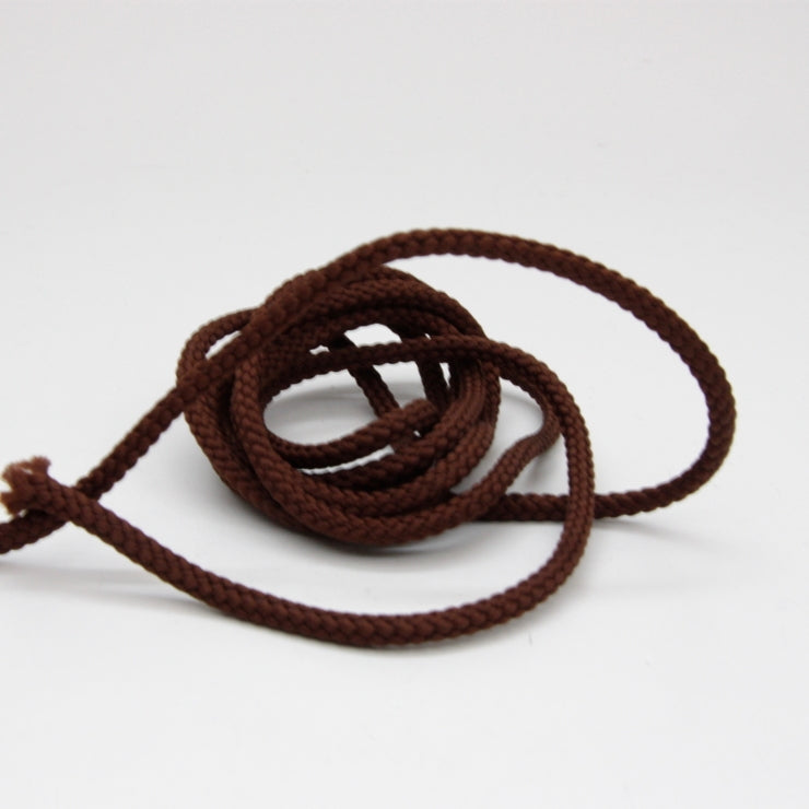Polyester Drawstring Cord 4mm - Chocolate Brown