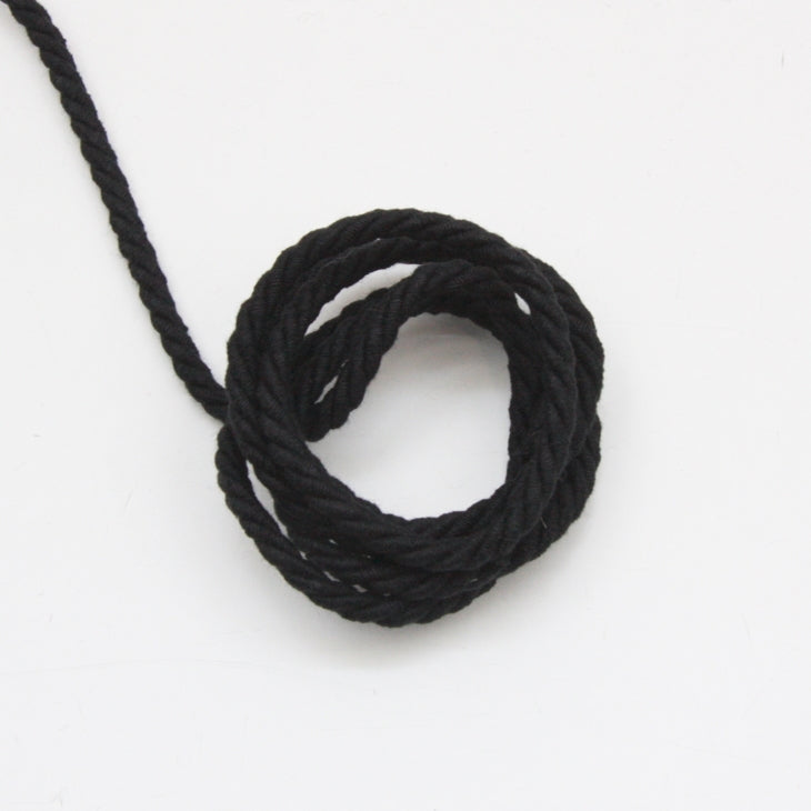Twisted Cotton Cord 5mm - Black