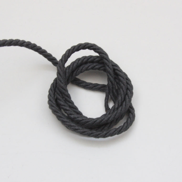 Twisted Cotton Cord 5mm - Slate Grey