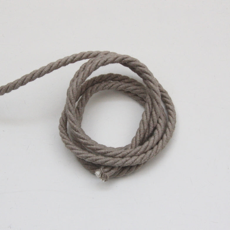 Twisted Cotton Cord 5mm - Mink Grey