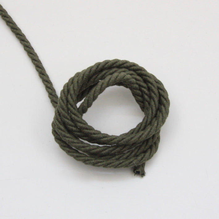 Twisted Cotton Cord 5mm - Khaki