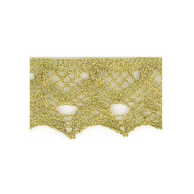 Linen Lace Trim 20mm - Sage Green