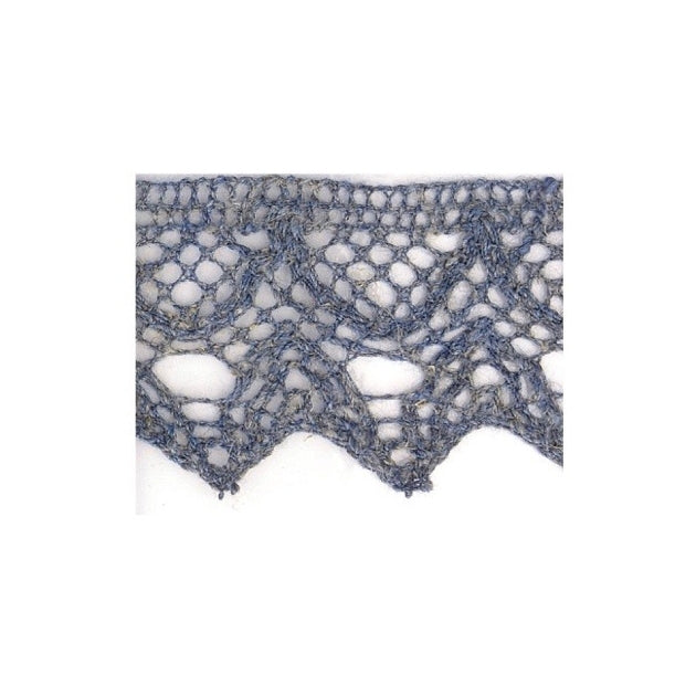 Linen Lace Trim 20mm - Denim Blue