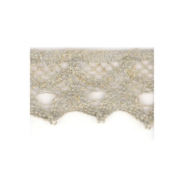 Linen Lace Trim 20mm - Light Grey