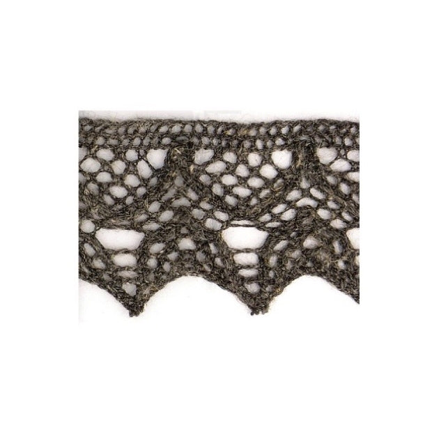 Linen Lace Trim 20mm - Charcoal