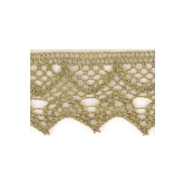 Linen Lace Trim 20mm - Taupe
