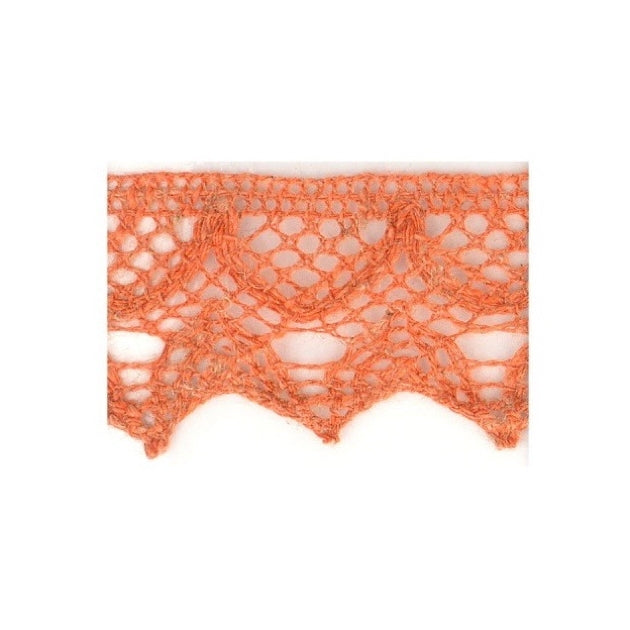Linen Lace Trim 20mm - Terracotta