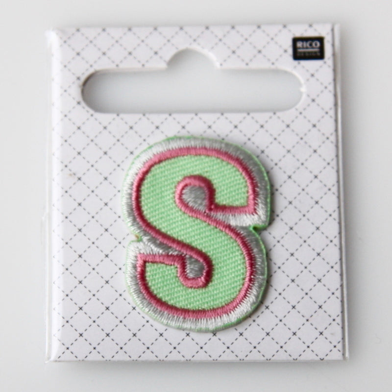 Iron-On Alphabet Patch - S