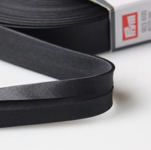Prym Satin Bias Binding 12mm - 900 Black
