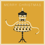 Ray Stitch Christmas Card - Mannequin