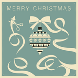 Ray Stitch Christmas Card - Bauble