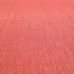 Organic Cotton Herringbone - Red