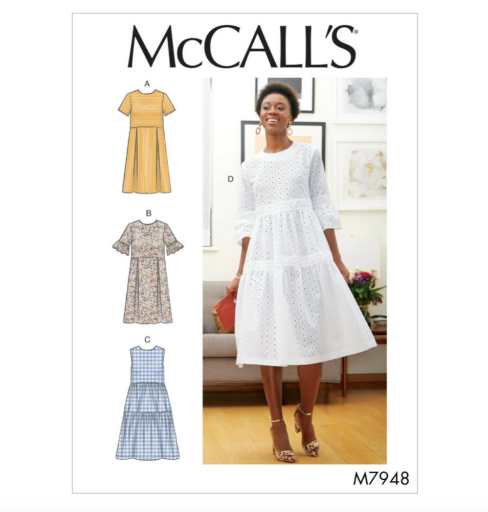 McCall's 7948 - Tiered or Pleated Dress