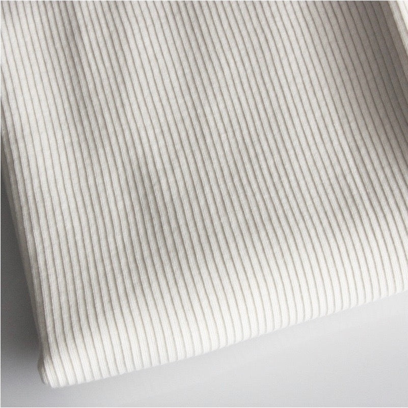 Organic Cotton Ribbed Jersey - Off White