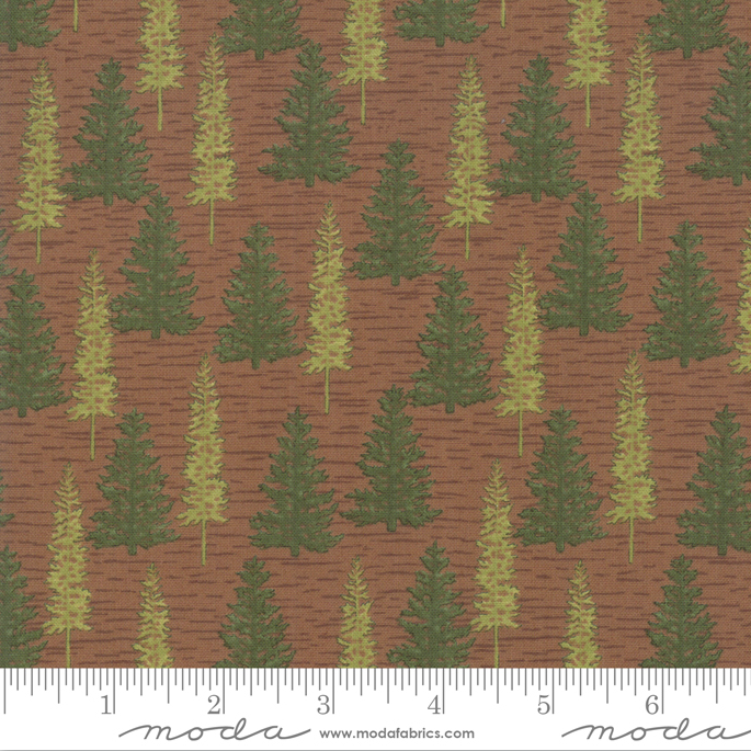 Deb Strain - Explore - Soft Cotton - Trees Brown