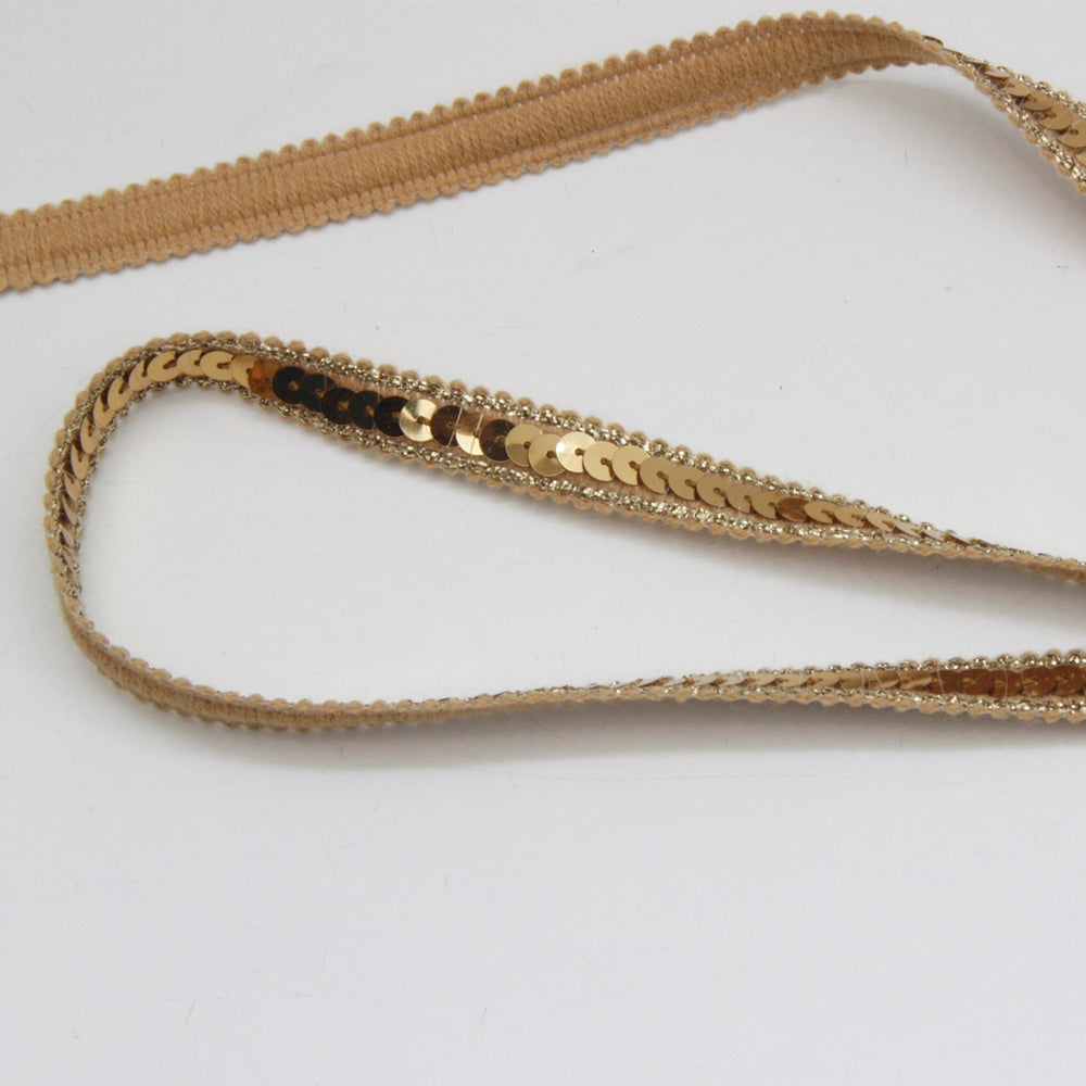 Sequin Trim - 12mm Gold