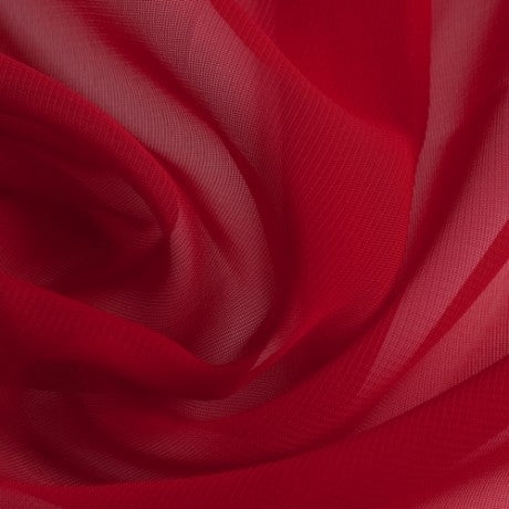 Polyester Chiffon - Cherry Red