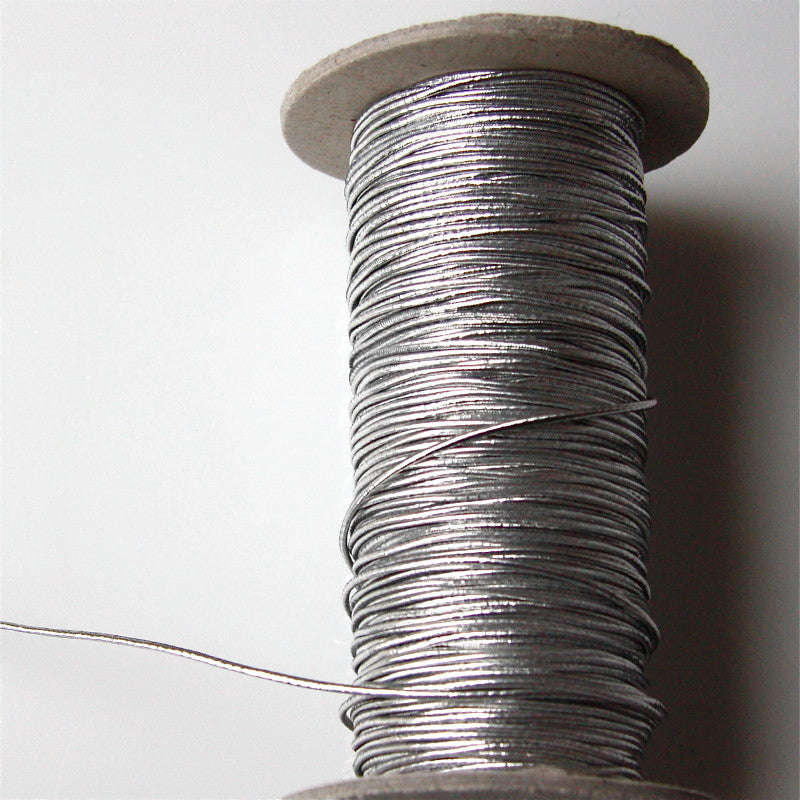 Metallic Elastic Cord 1mm - Silver
