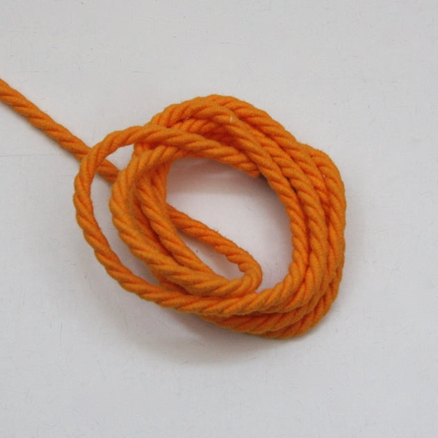 Twisted Cotton Cord 5mm - Orange