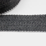 Upholstery Webbing 50mm - Herringbone Navy/White