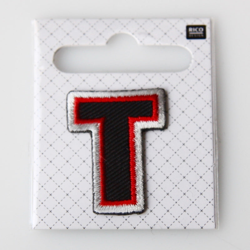 Iron-On Alphabet Patch - T