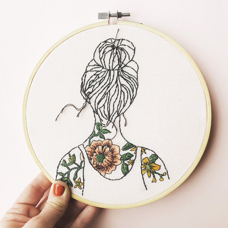 Modern Embroidery Kit - Tattooed Shoulders