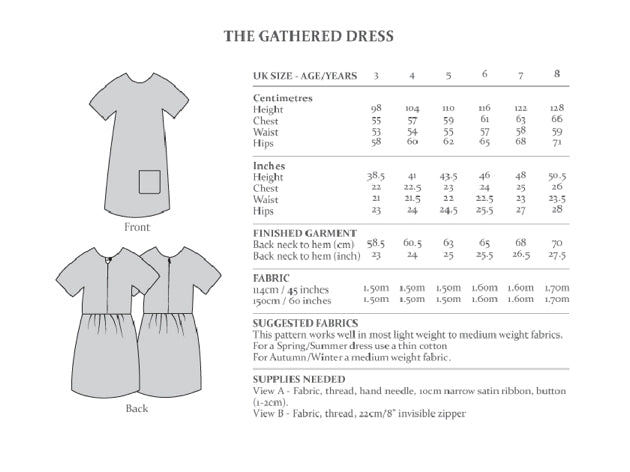 Avid Seamstress Girl's - Gathered Dress