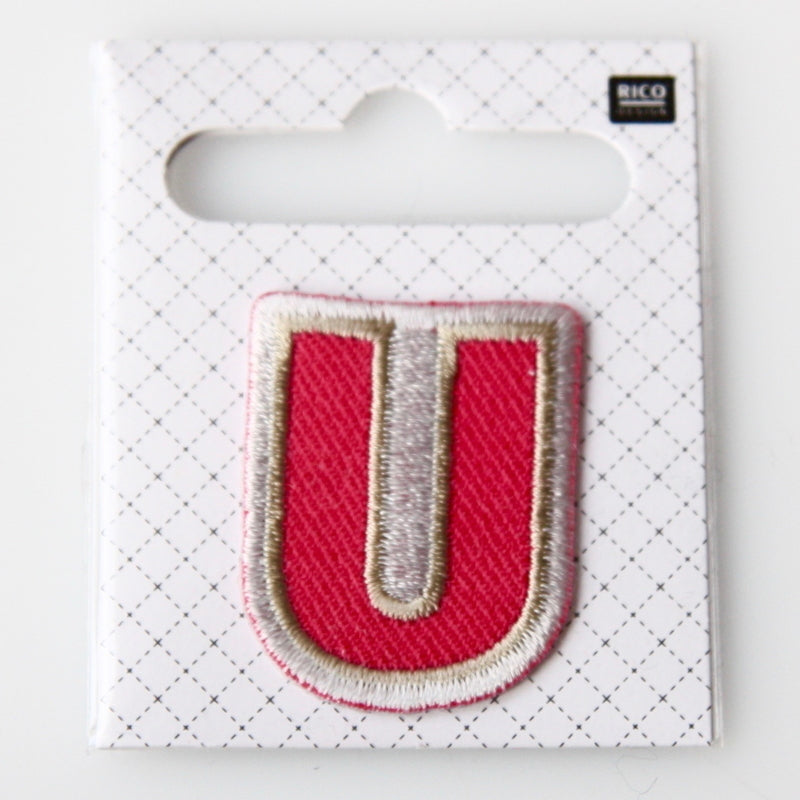 Iron-On Alphabet Patch - U