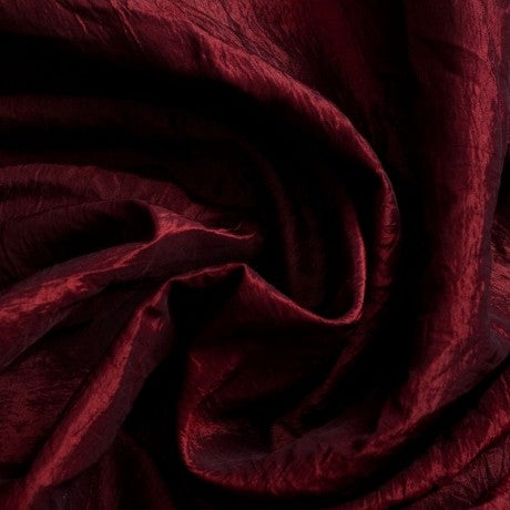 Crushed Taffeta - Garnet Red