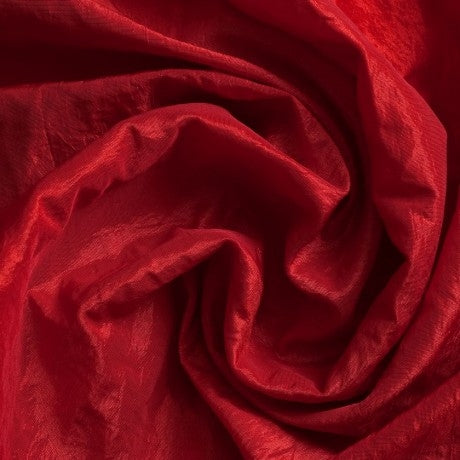 Crushed Taffeta - Scarlet Red