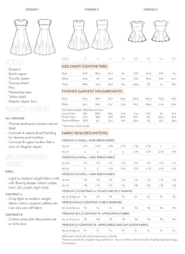 Victory Patterns - Ava Dress & Blouse