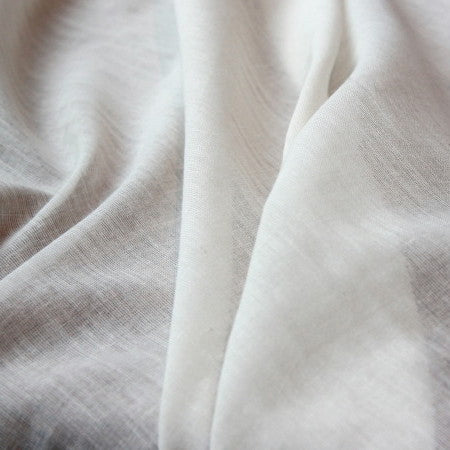 Organic Cotton Fine Voile - Off White