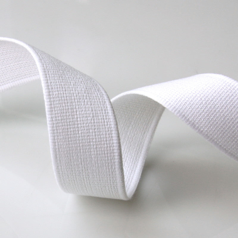 Cotton Strap Webbing - White
