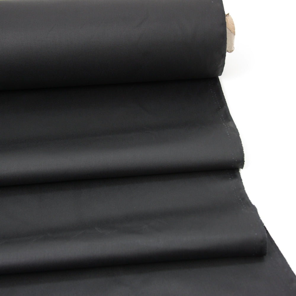 Oil Cloth - Medium Weight Waxed Cotton - Black