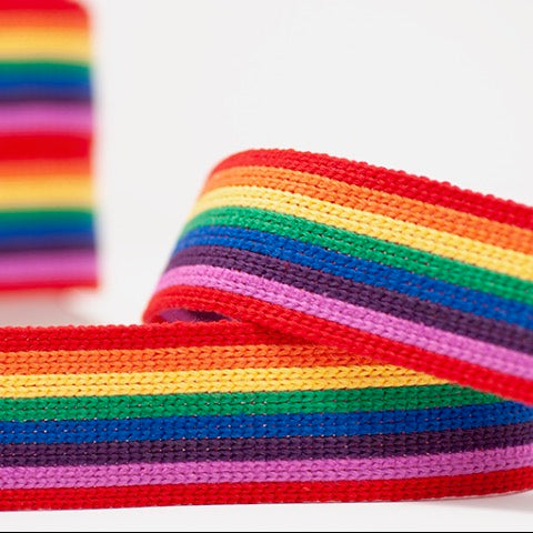 Striped Webbing 40mm - Rainbow