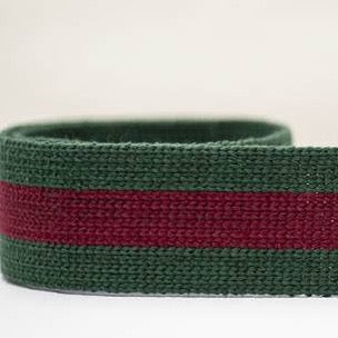 Striped Webbing 40mm - Green/Red