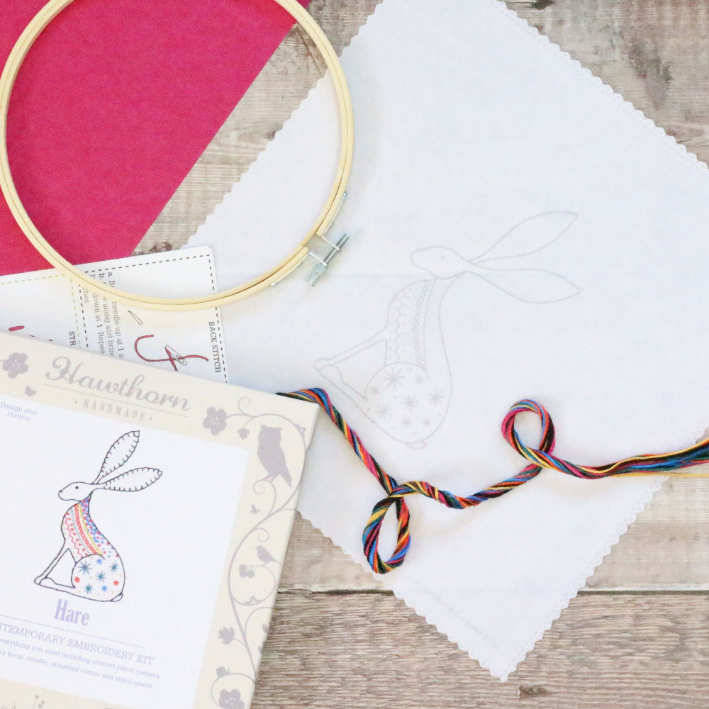 Contemporary Embroidery Kit - Hare