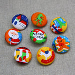 Christmas Buttons - Playful Set of 8