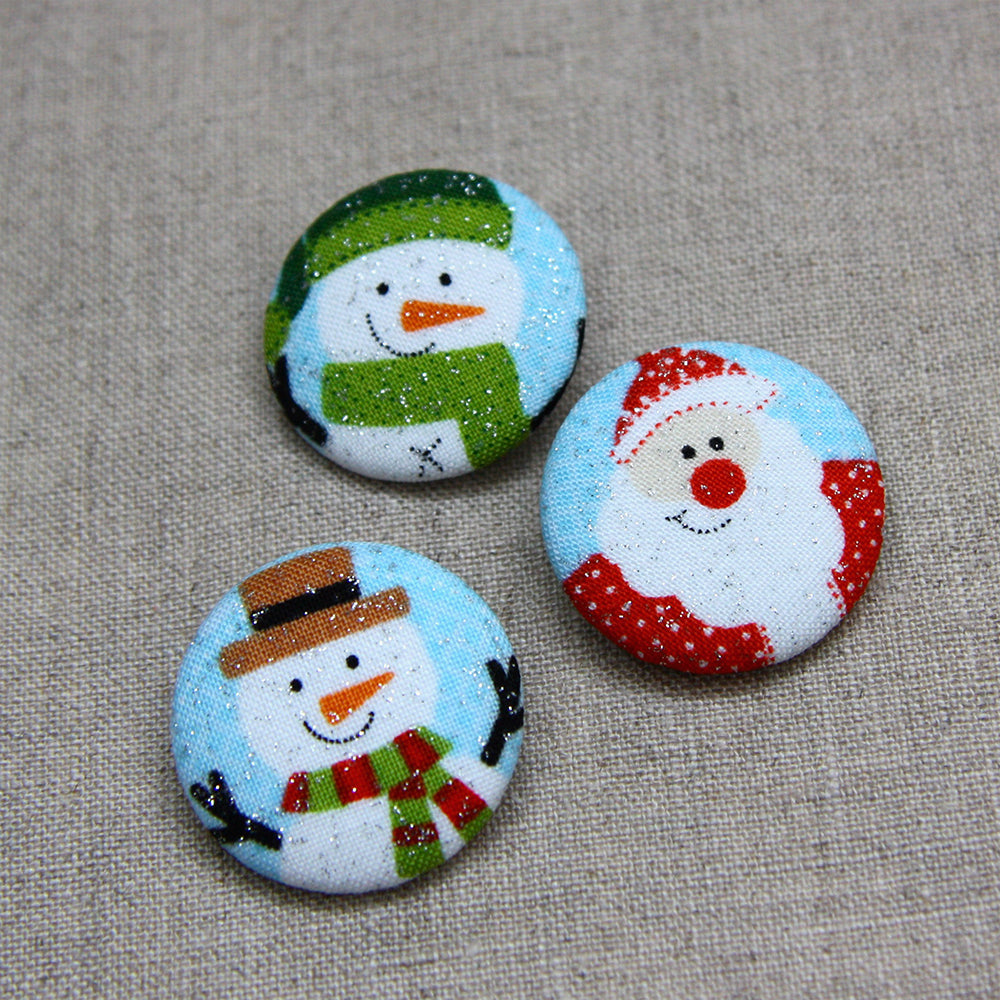 Christmas Buttons - Trio Blue
