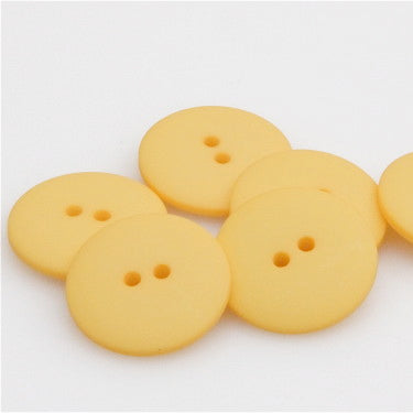 Satin Polyester Buttons - Yellow