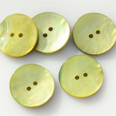 Coloured Shell Buttons - Yellow