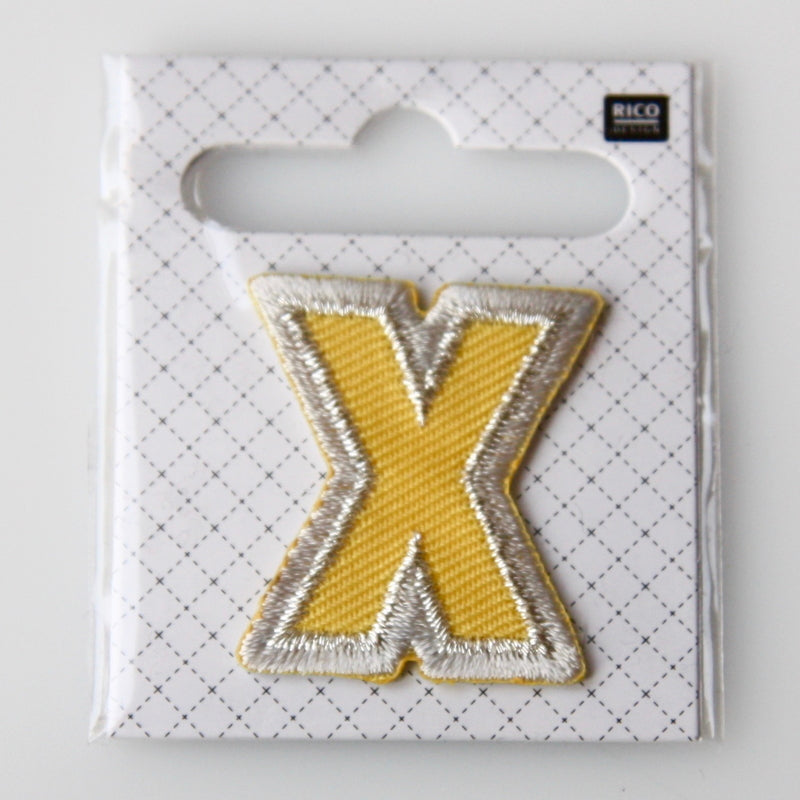 Iron-On Alphabet Patch - X