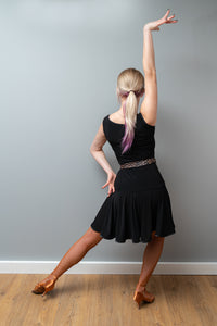 Black Practice Latin Dress