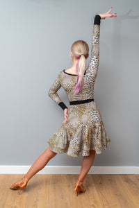 Leopard Print Practice Latin Dress