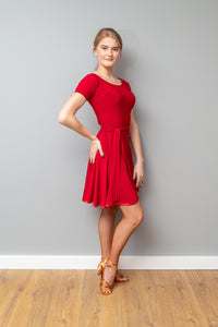 Red Practice Latin Dress