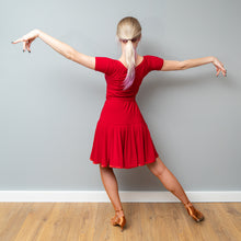 Load image into Gallery viewer, Red Practice Latin Dress