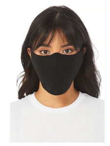 Bella and Canvas Black Face Mask
