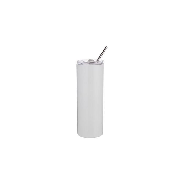 20 oz. Stainless Steel Tumbler - WHITE - CUSTOM
