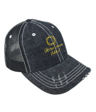 GLITTER CRAZE DENIM CAP